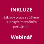 Základy práce se žákem s lehkým mentálním postižením v základní škole – WEBINÁŘ (20822)